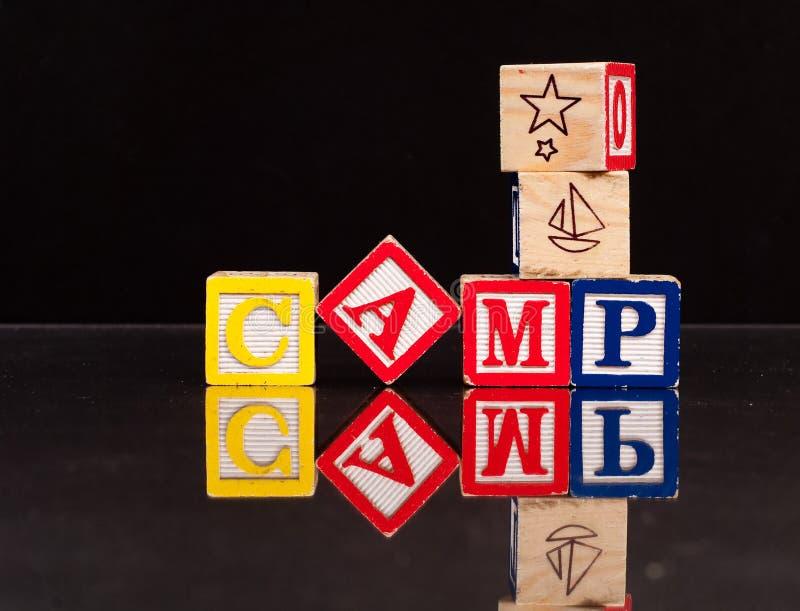 De Blokken van het kamp stock foto's