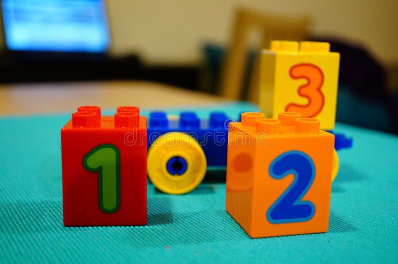 De blokken van Lego stock afbeelding