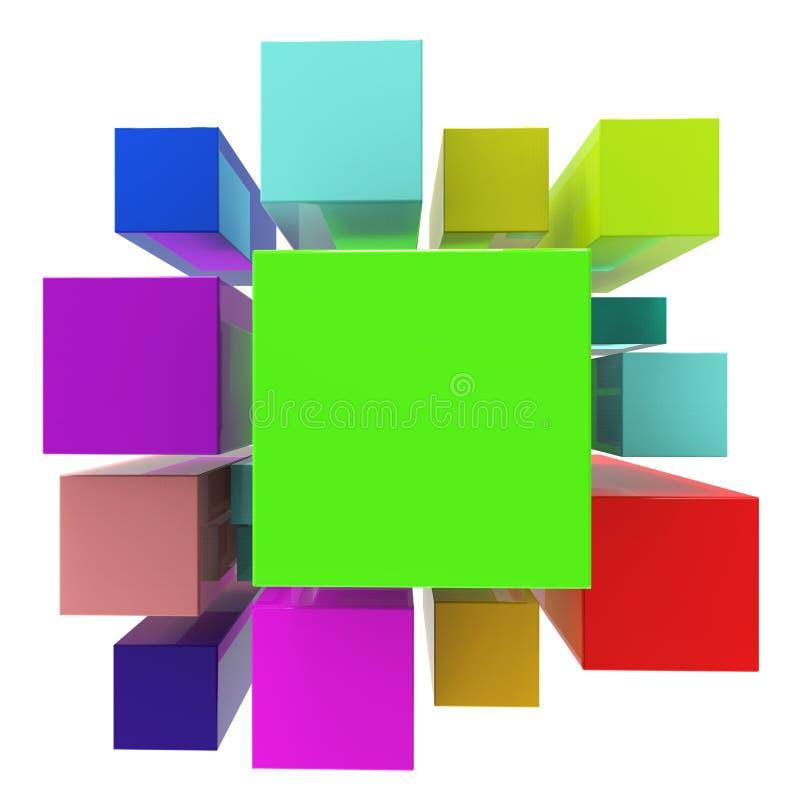 De blokkenachtergrond betekent Lege Ruimte en Samenvatting vector illustratie