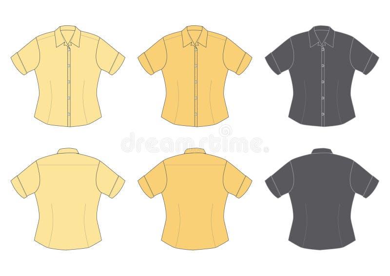 De blouse van de vrouw, korte koker vector illustratie