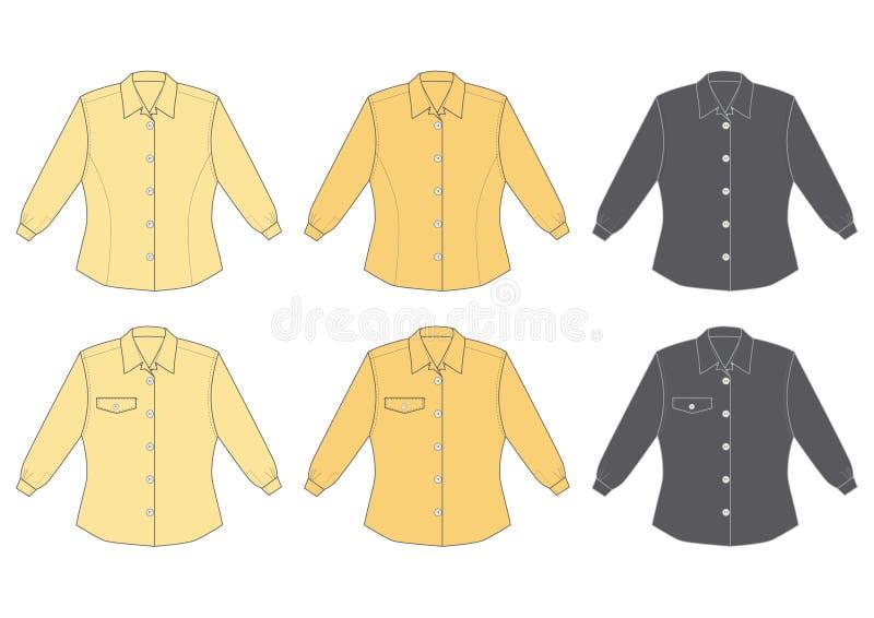 De blouse van de vrouw, lange koker vector illustratie