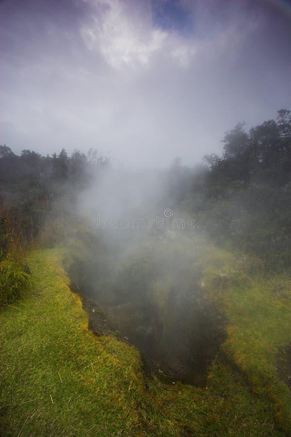 De bodem van de krater stock fotografie