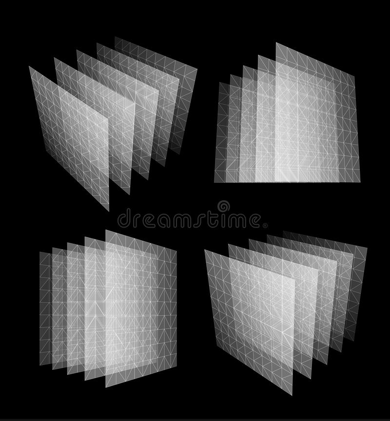 De bodgegevens centreren abstracte geometrische vectorillustratie Nieuwe technologiebank Het ontwerpconcept van het gegevenscentr vector illustratie