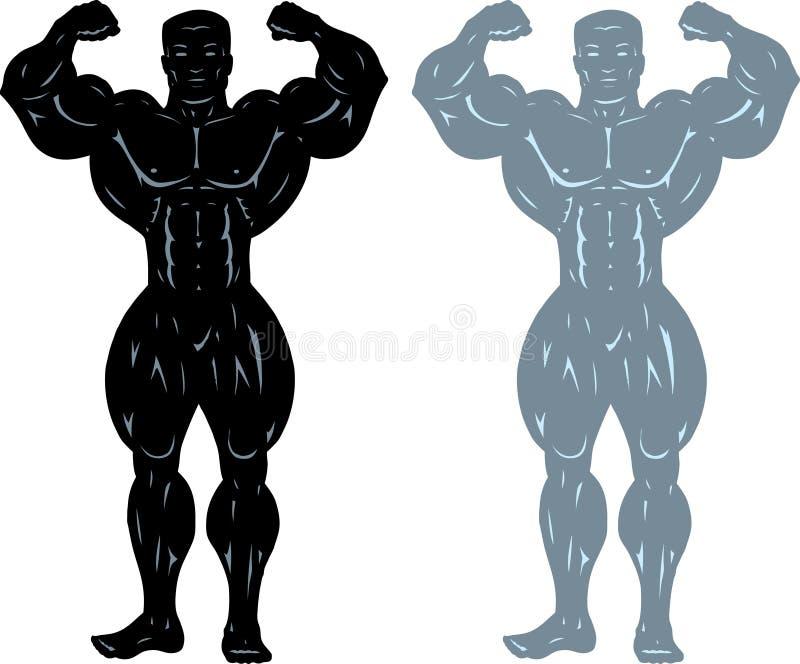 De bodybuilder stelt stock illustratie