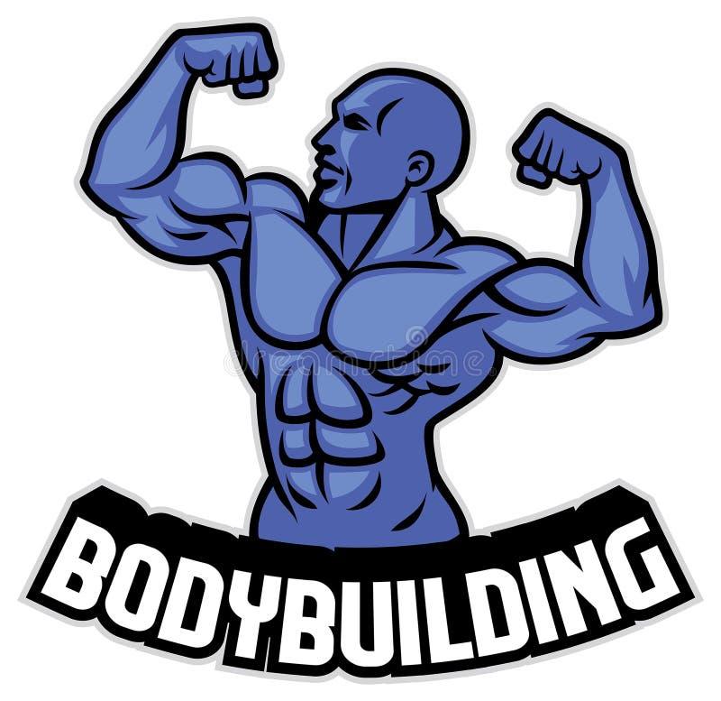 De bodybuilder stelt royalty-vrije illustratie