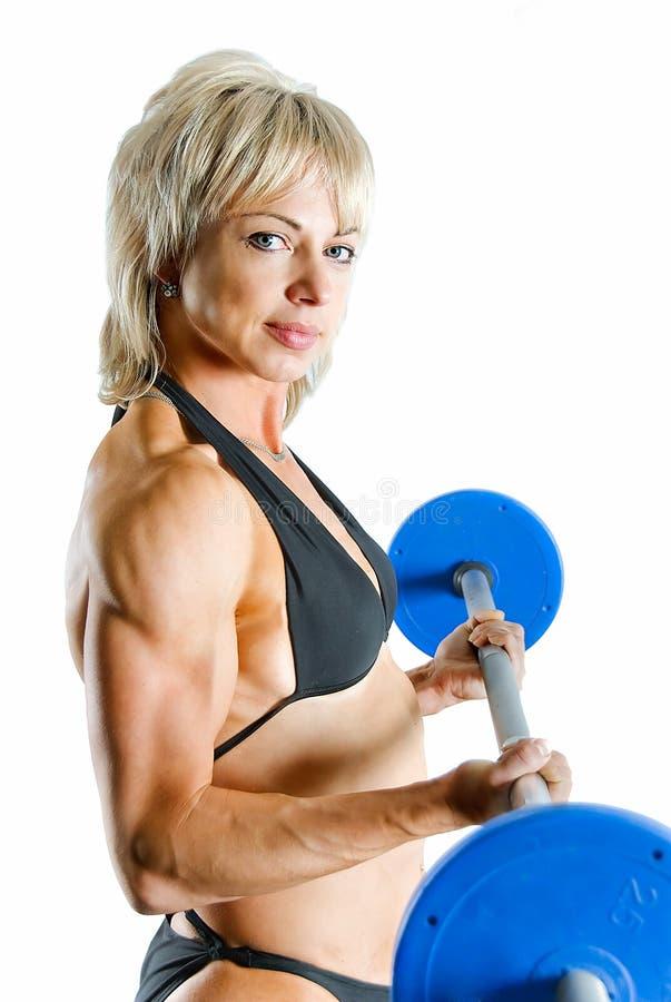 De bodybuilder van de schoonheid stock foto
