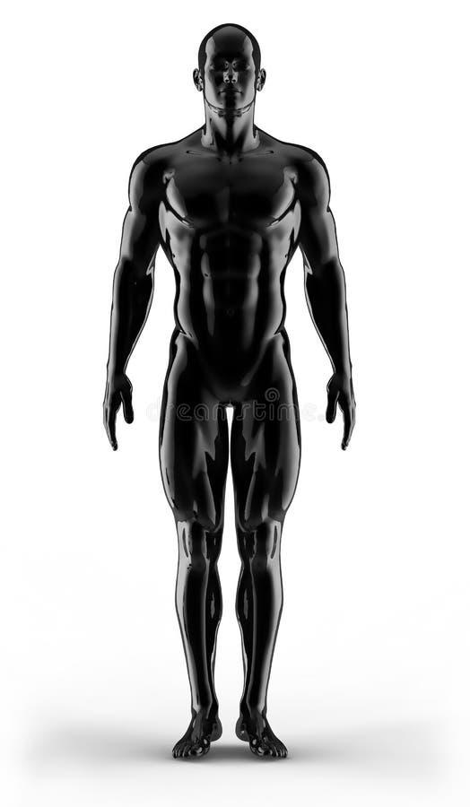 De bodybuilder van het portret royalty-vrije illustratie