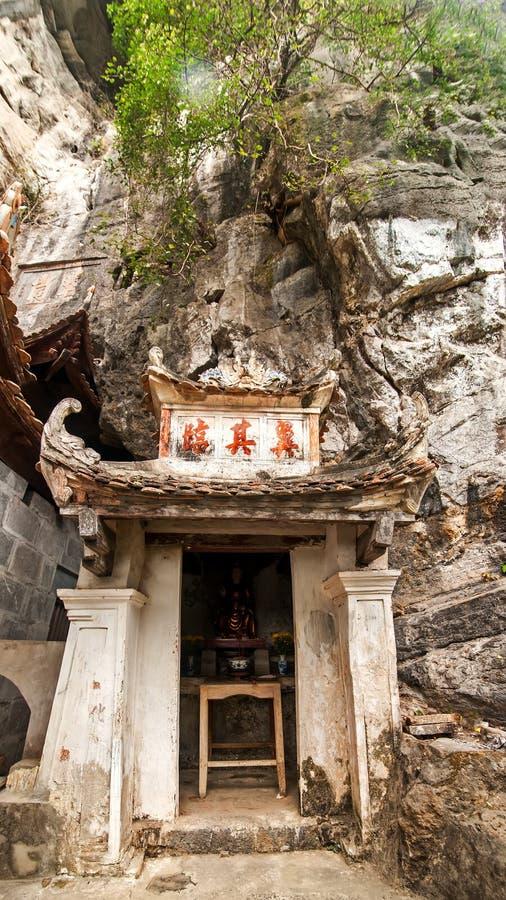 De boeddhistische pagode van Bich Dong Ninh Binh, Vietnam stock foto