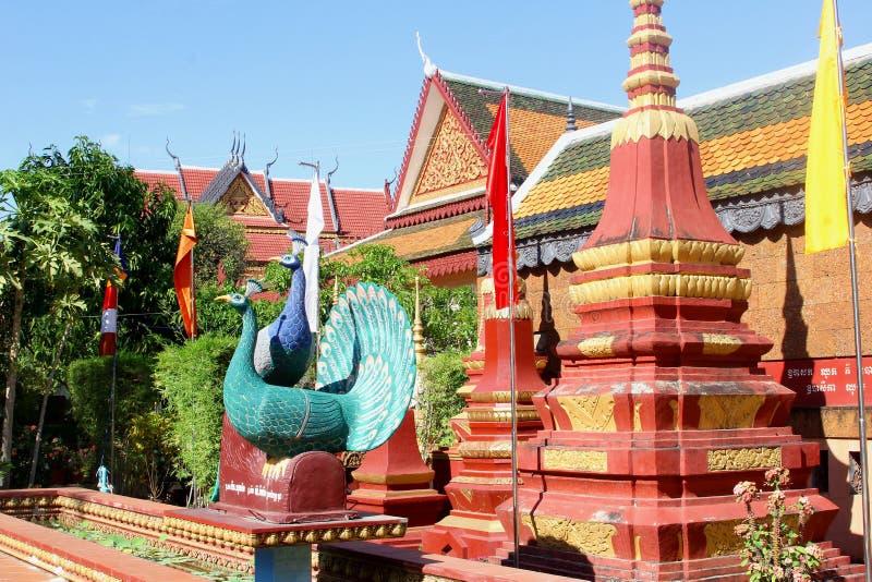 De boeddhistische tempel Wat Preah Prom Rath, Siem oogst stock fotografie