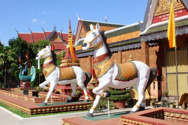 De boeddhistische tempel Wat Preah Prom Rath, Siem oogst stock foto's