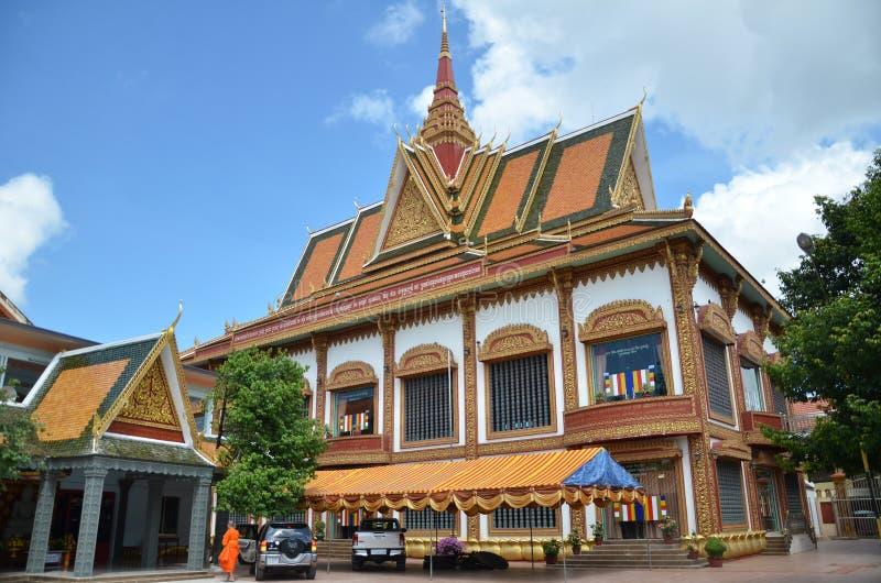 De boeddhistische Tempel Wat Preah Prom Rath in Siem oogst, Kambodja royalty-vrije stock fotografie
