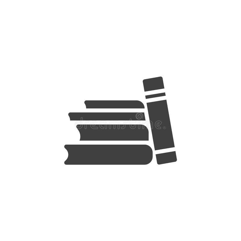 De boeken stapelen vectorpictogram stock illustratie