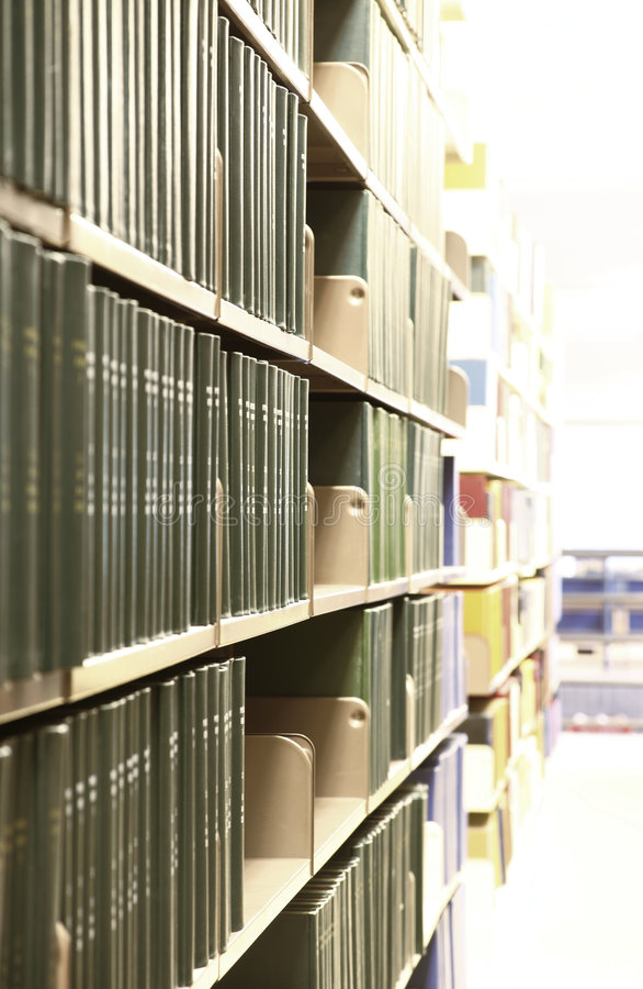 De Boeken van de bibliotheek royalty-vrije stock afbeeldingen