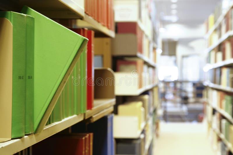 De Boeken van de bibliotheek royalty-vrije stock foto's