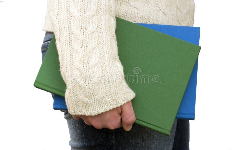 Download De Boeken Van De Holding Door Uw Kant Stock Afbeelding - Afbeelding bestaande uit wollen, skoal: 288657