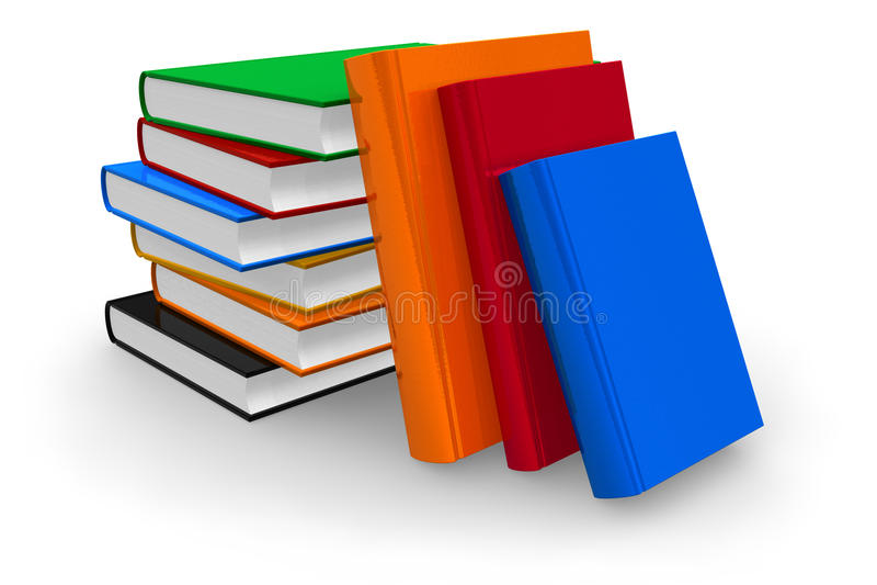 De boeken van de kleur vector illustratie
