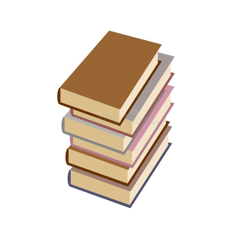 De boeken van de stapel op witte achtergrond Vector illustratie vector illustratie