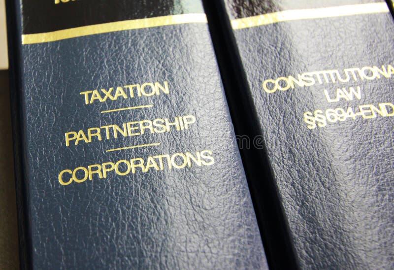 De Boeken van de Wet van de belastingheffing royalty-vrije stock foto