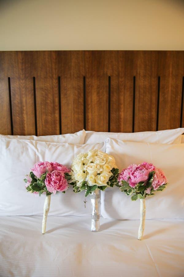 De boeketten van het huwelijk stock fotografie