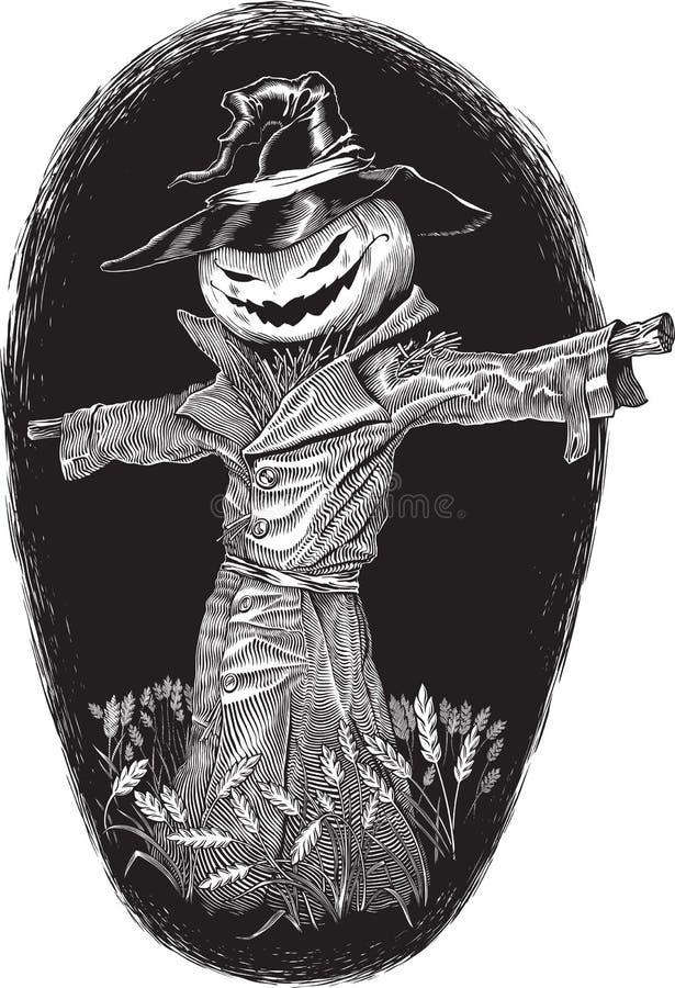 De boeman van Halloween royalty-vrije illustratie