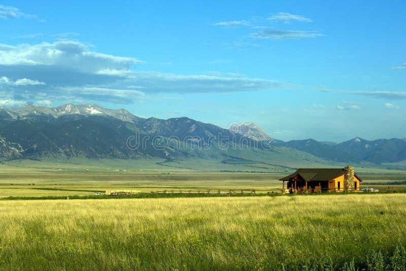 De Boerderij van Montana stock foto's