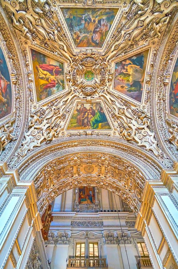 De bogen van Kathedraal van Salzburg, Oostenrijk stock foto