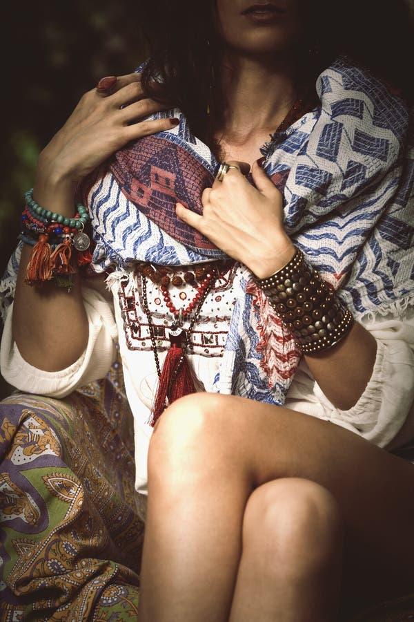 De Boheemse details van de stijlmanier stock fotografie