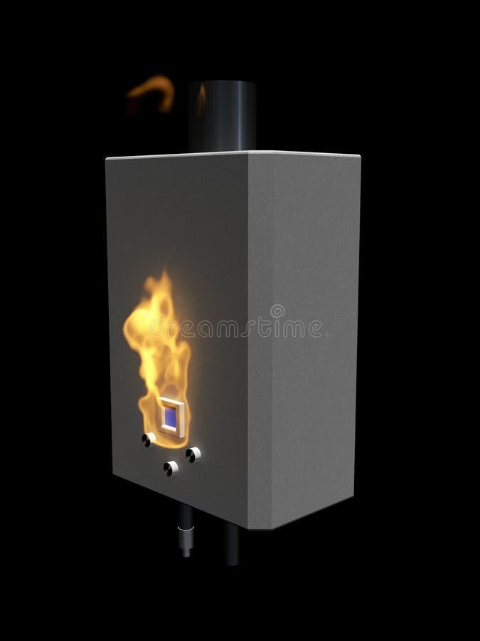 De boiler van het gas met vlam royalty-vrije illustratie