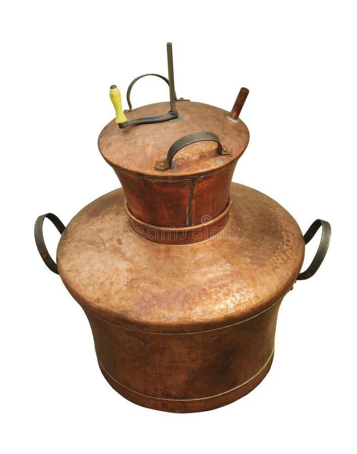 De boiler van het koper royalty-vrije stock fotografie