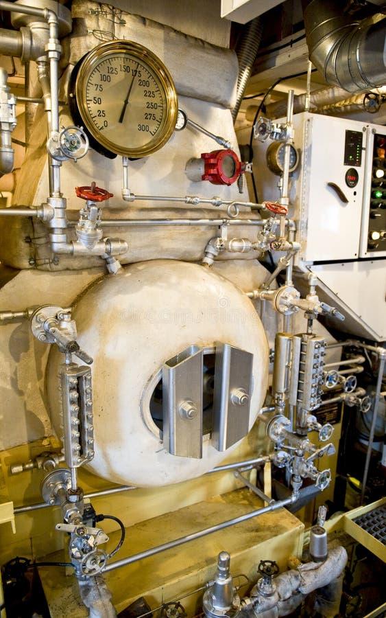 De boiler van het stoomschip stock foto's