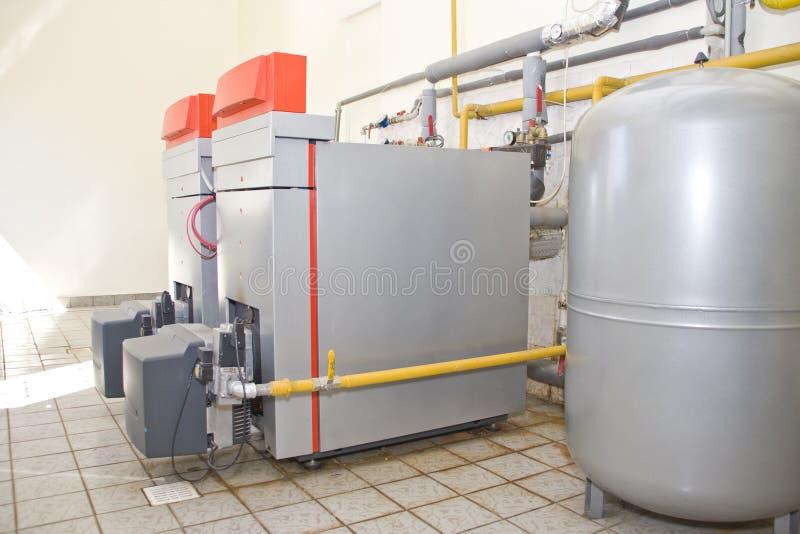 De boilers van het gas stock foto