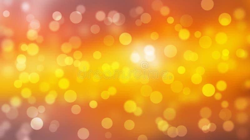 De Bokehachtergrond met Kerstmis steekt sinaasappel aan en geel stock illustratie
