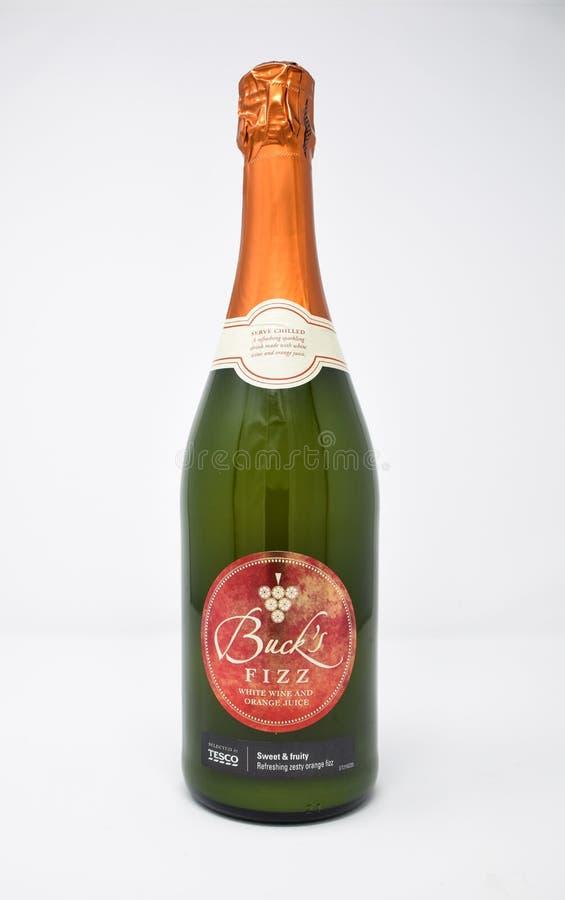 De bokken bruisen fles royalty-vrije stock afbeelding