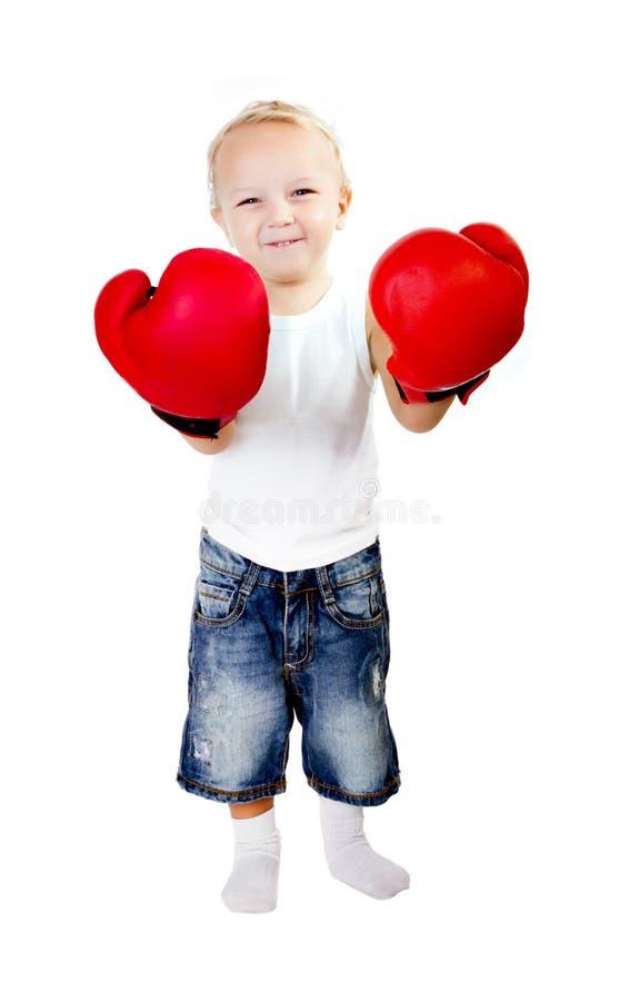 De bokser van de baby stock foto