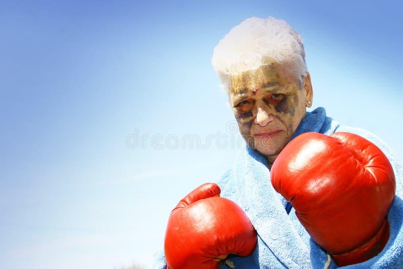 De bokser van de bejaarde stock fotografie