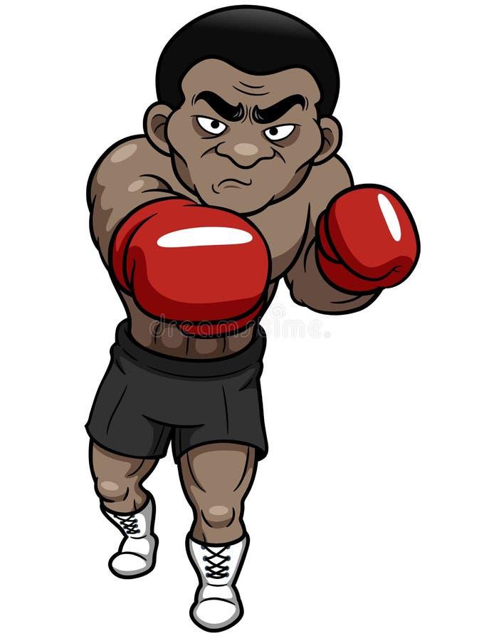 De bokser van het beeldverhaal royalty-vrije illustratie