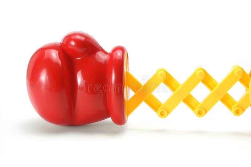 De Bokshandschoen van het stuk speelgoed stock afbeeldingen
