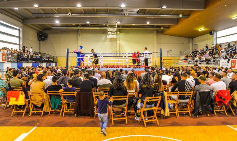 De bokswedstrijd - Vigo - Spanje royalty-vrije stock afbeelding