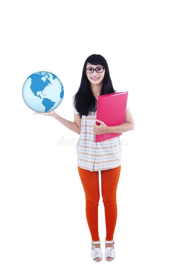 De bol en de omslag van de studentholding vector illustratie