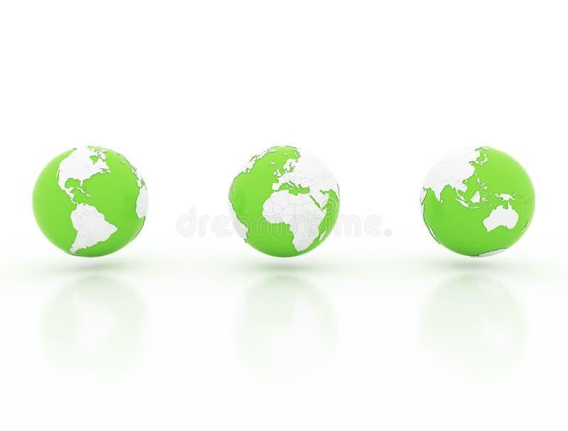 De bol met nationale 3d grenzen, geeft terug stock illustratie