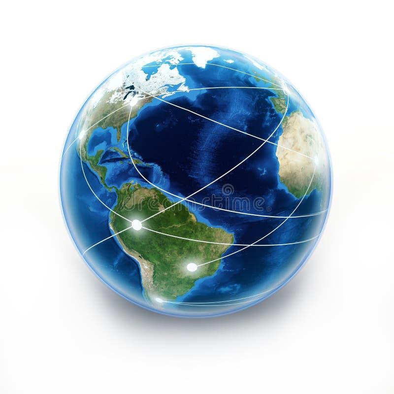 De bol van de Aarde van Internet vector illustratie