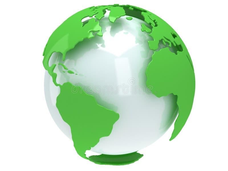 De bol van de aardeplaneet. 3D geef terug. De mening van Amerika. vector illustratie