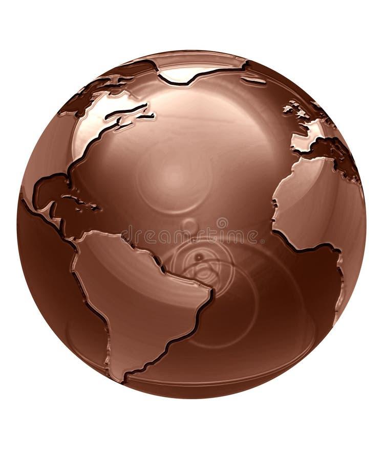 De bol van de chocolade royalty-vrije illustratie