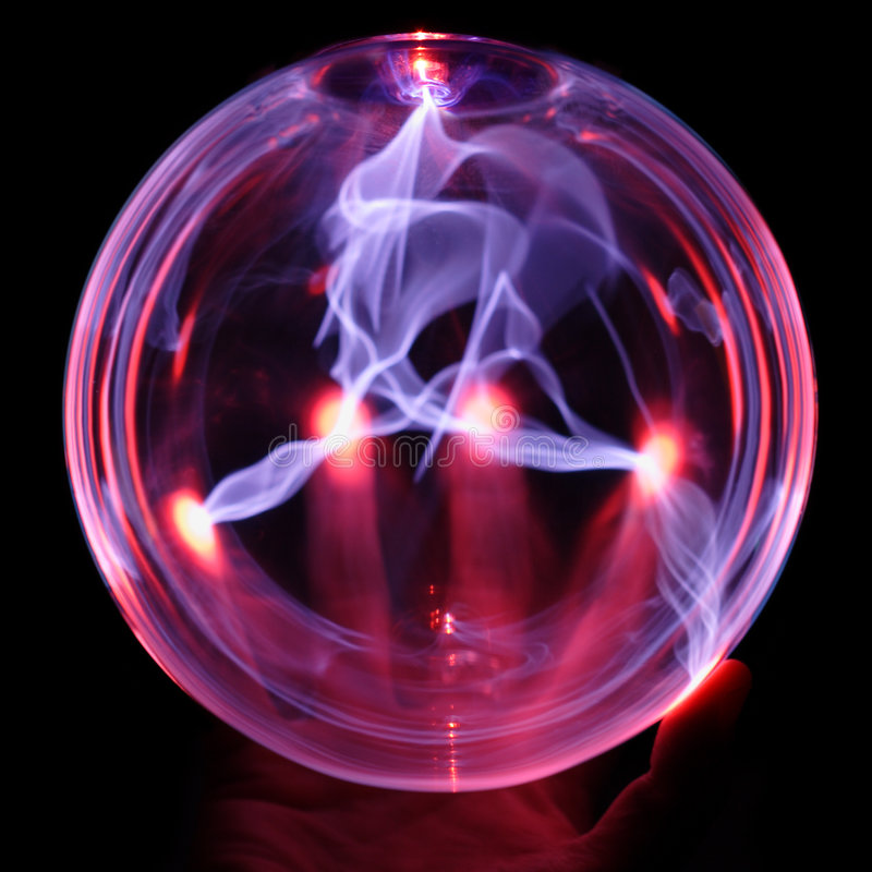 De bol van de energie, met hand stock foto's