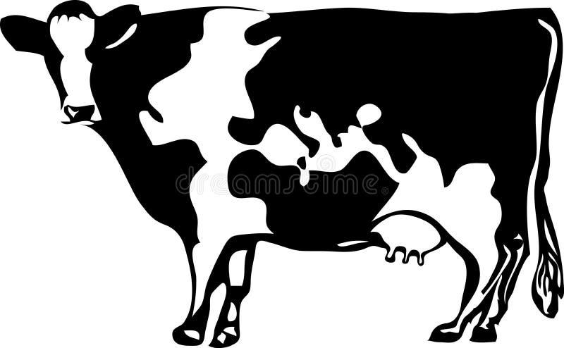 De bol van de koe royalty-vrije illustratie