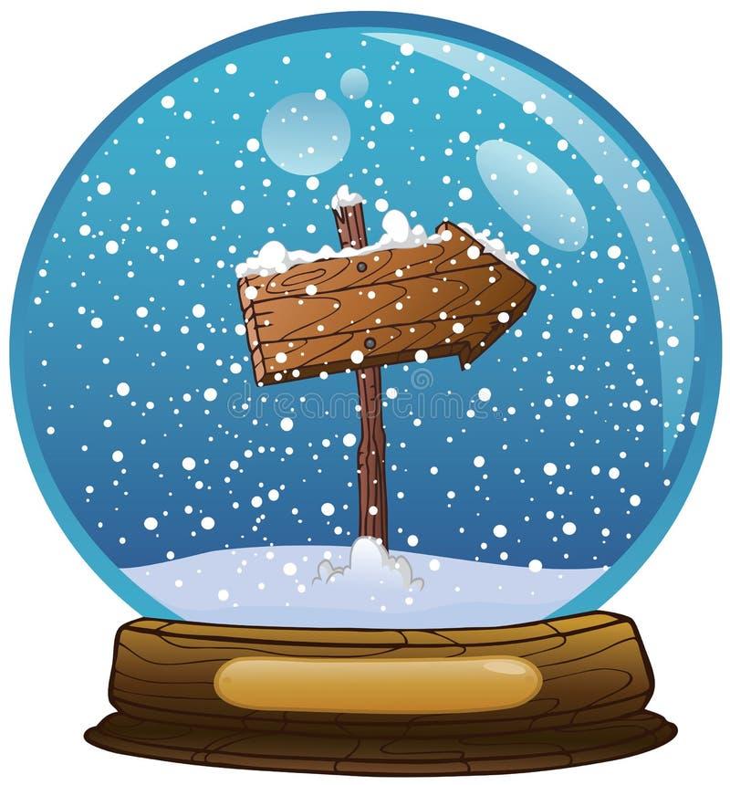 De bol van de sneeuw vector illustratie