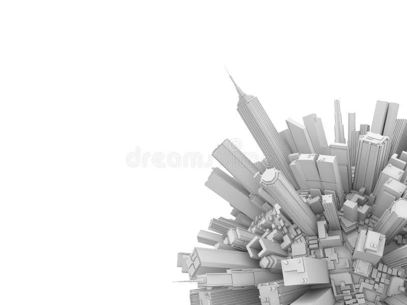 De bol van de stad vector illustratie
