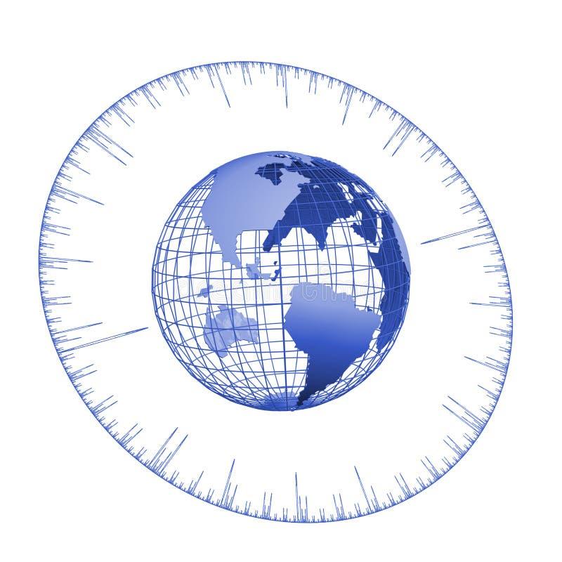 De bol van de tijd vector illustratie