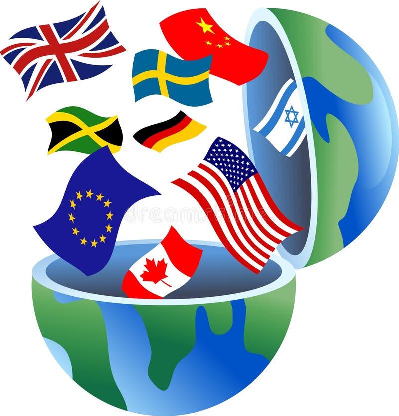 De bol van de vlag vector illustratie