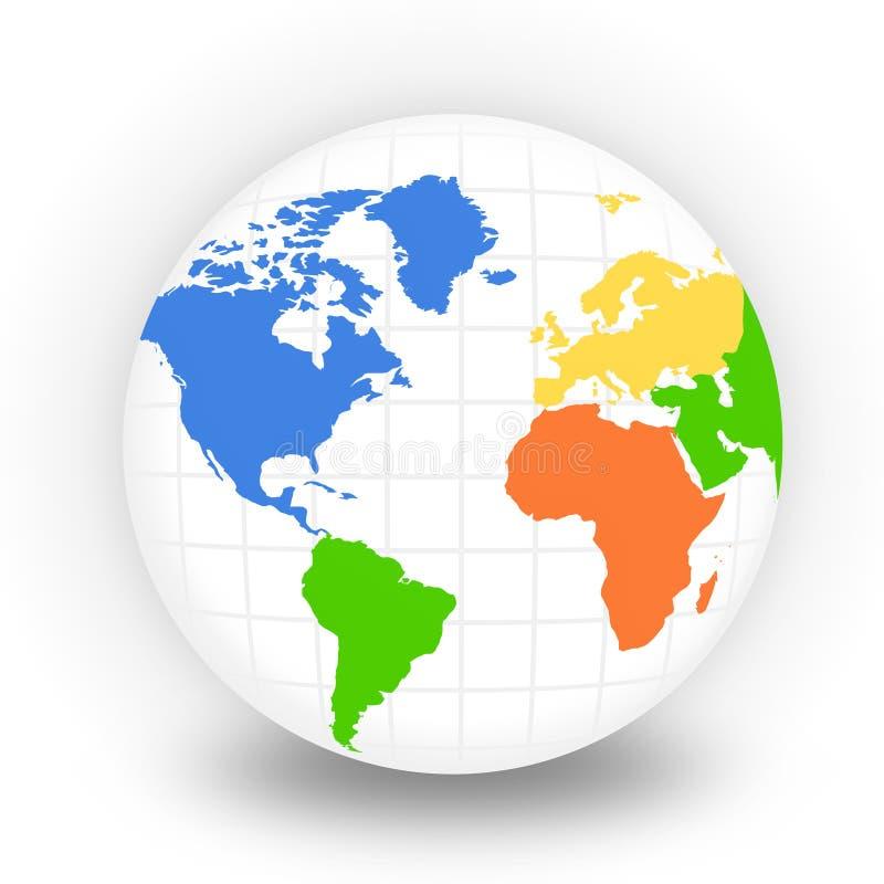 De Bol van de wereld stock illustratie